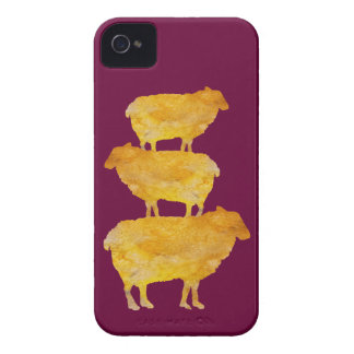 Pilha dourada dos carneiros capinha iPhone 4