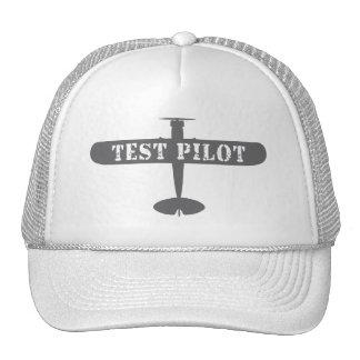 Piloto do avião de teste boné