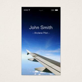 Piloto do avião - estilo liso customizável de UI Cartão De Visitas