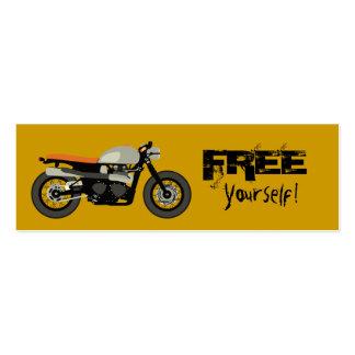 Piloto do café, motocicleta livre você mesmo da cartão de visita skinny