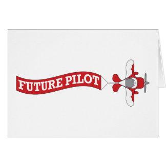 Piloto futuro - plano com bandeira cartao