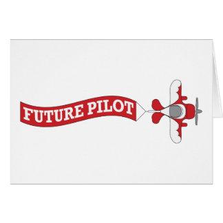Piloto futuro - plano com bandeira cartão