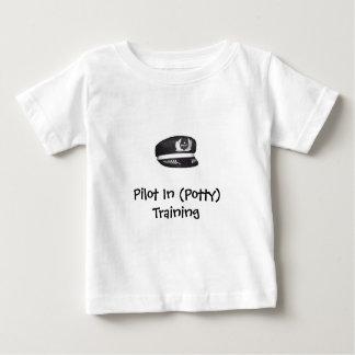 Piloto no treinamento (do Potty) Camiseta Para Bebê