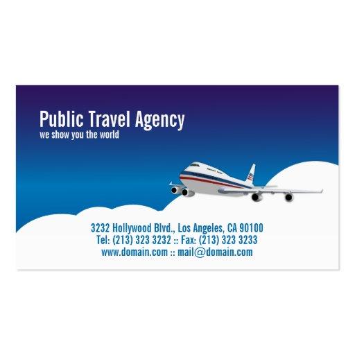 Piloto ou agência de viagens cartões de visita