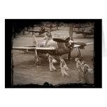 Pilotos de caça que treinam nos raios P-47