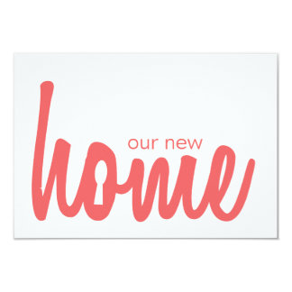 Pimenta de Caiena & o Housewarming branco do Convite 8.89 X 12.7cm