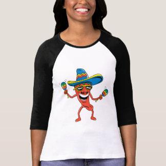Pimenta de pimentão mexicana camiseta