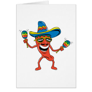 Pimenta de pimentão mexicana cartão comemorativo