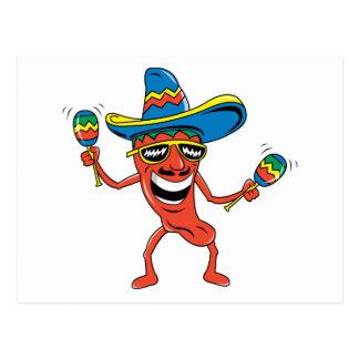 Pimenta de pimentão mexicana cartões postais