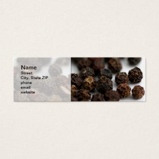 Pimenta preta cartão de visitas mini