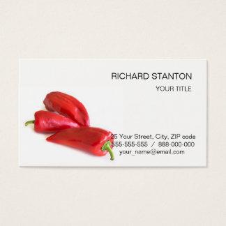 Pimenta vermelha cartão de visitas