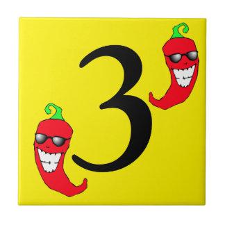 Pimentão vermelho legal número quente 3 da pimenta