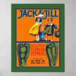 Pimentas de Jack & de Jill Florida Pôsteres