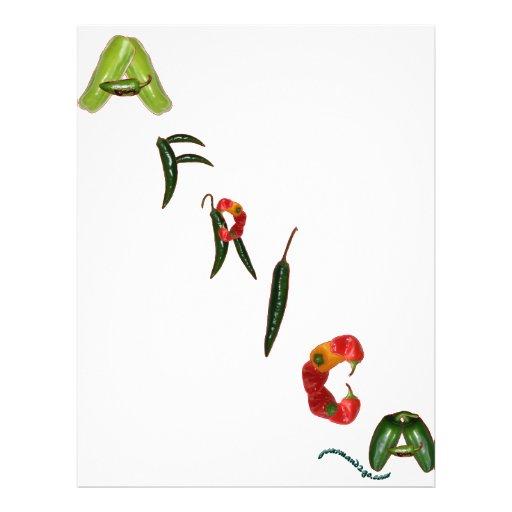 Pimentas de pimentão de África Modelo De Panfletos
