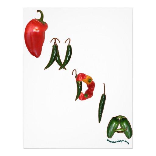 Pimentas de pimentão de India Panfletos Coloridos