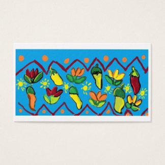 pimentas e flores cartão de visitas