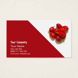Pimentas vermelhas cartão de visitas