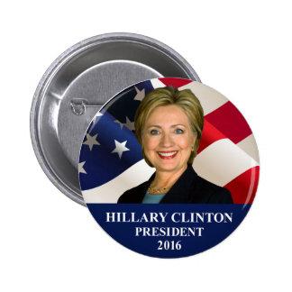 """Pin 2"""" do presidente 2016 botão de Hillary Clinton Bóton Redondo 5.08cm"""