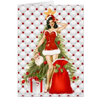 Pin acima do cartão de Natal da menina