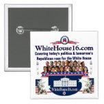 Pin branco do candidato do republicano da casa 201 botons