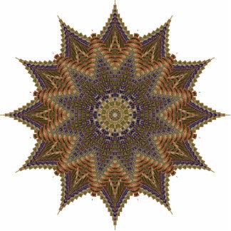 Pin da estrela de Brown Foto Escultura