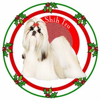 Pin da foto do Natal de Shih Tzu Esculturafoto