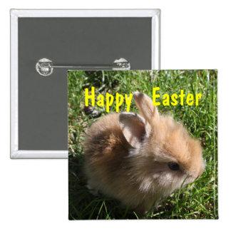 Pin da páscoa do coelho do anão bóton quadrado 5.08cm