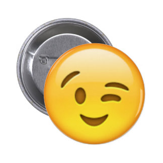 Pin de Emoji do piscar os olhos Bóton Redondo 5.08cm
