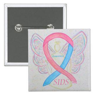 Pin do anjo da consciência (SIDS) da morte Bóton Quadrado 5.08cm