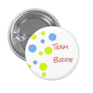 Pin do botão da noiva da equipe bóton redondo 2.54cm