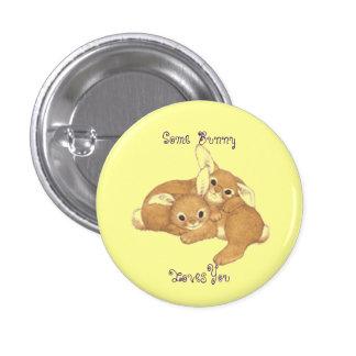 Pin do botão de dois coelhos bóton redondo 2.54cm