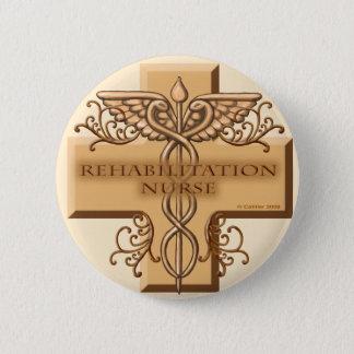Pin do Caduceus da enfermeira da reabilitação Bóton Redondo 5.08cm