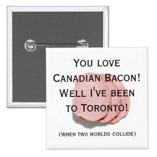 Pin do humor do divertimento do bacon bóton quadrado 5.08cm