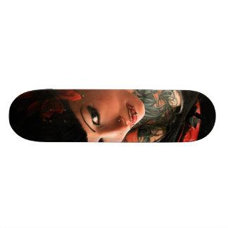 Pin do tatuagem acima shape de skate 18,7cm