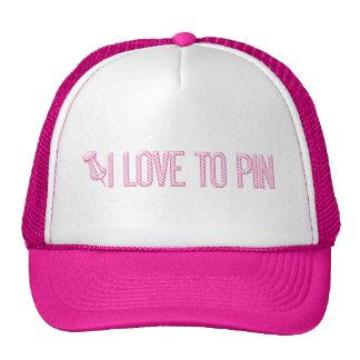 [PIN] Eu amo ao Pin (listrado) Bonés