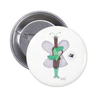 Pin futuro verde Pastel da forma da celebridade Bóton Redondo 5.08cm
