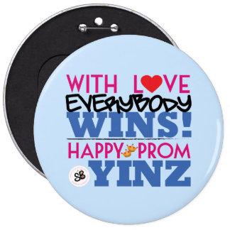 Pin mega do botão de Yinz do baile de formatura Bóton Redondo 15.24cm