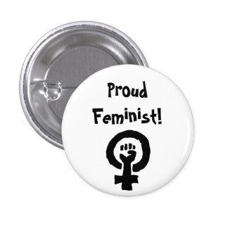 Pin orgulhoso da feminista bóton redondo 2.54cm