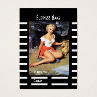 Pin preto do cartão de visita acima do vintage da