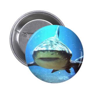 Pin redondo do tubarão bóton redondo 5.08cm