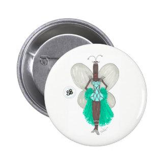 Pin verde/azul da celebridade Pseudo de SBM de Geo Bóton Redondo 5.08cm