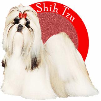 Pin vermelho da foto de Shih Tzu Escultura De Foto