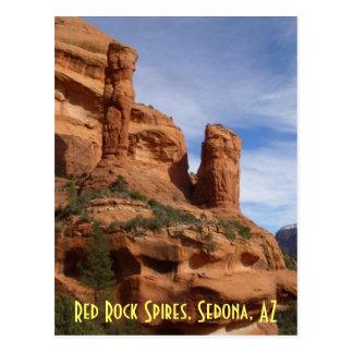 Pináculos vermelhos da rocha, Sedona, AZ Cartão Postal