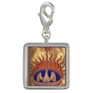 Pingente Ascensão dourada de Phoenix das cinzas