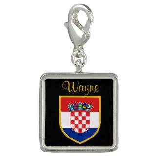 Pingente Bandeira de Croatia personalizada