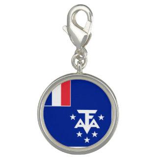 Pingente Bandeira do sul e antárctica francesa das terras