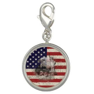Pingente Bandeira e símbolos dos Estados Unidos ID155