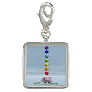 Pingente Chakras e arco-íris - 3D rendem