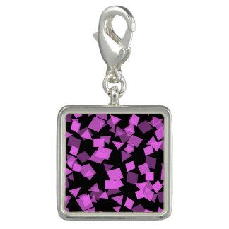 Pingente Confetes cor-de-rosa brilhantes no preto