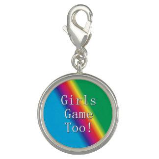 Pingente Das meninas do jogo encanto do arco-íris demasiado